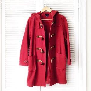 Ralph Lauren Red Hooded Toggle Pea Coat NWOT